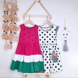 Other - GIRLS BUNDLE DRESSES POLKA DOT/WATERMELON PRINT